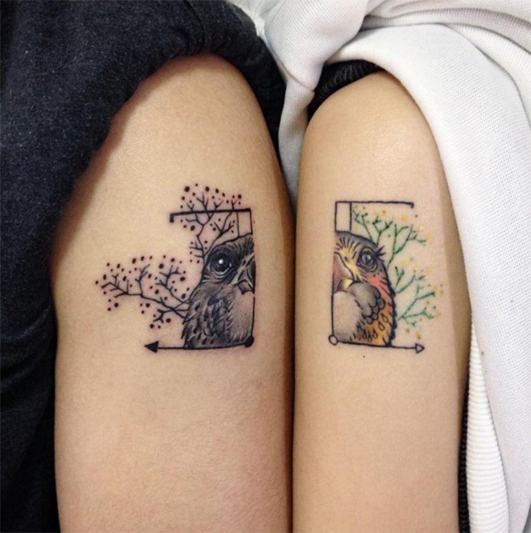 Resultado de imagem para tatuagens para voce e sua melhor amiga fazerem juntas