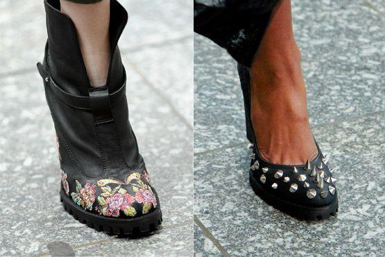 sapato tendencia 2012 2 Tendências de sapatos para o inverno 2012