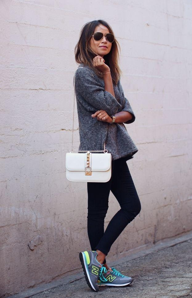 "Foto: Reprodução / <a href=""http://sincerelyjules.com/2014/10/new-balance-sneakers.html"" target=""_blank"">Sincerely Jules</a>"