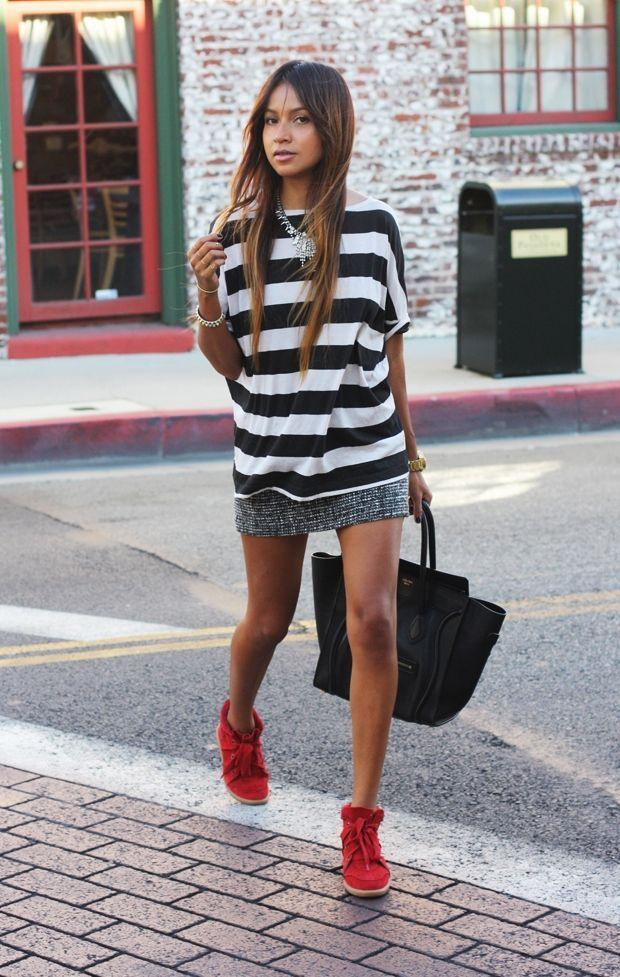 "Foto: Reprodução / <a href=""http://sincerelyjules.com/2012/10/black-and-stripes.html"" target=""_blank"">Sincerely Jules</a>"