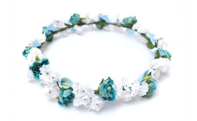 Tiara blå og hvit for $ 49.00 på Link 7