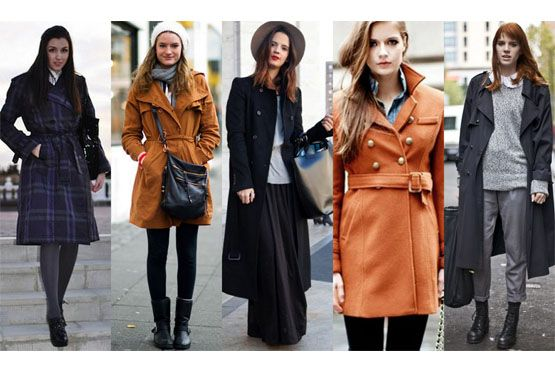 2 coloridos Trench coat para o inverno