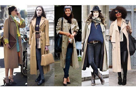 3 longos Trench coat para o inverno