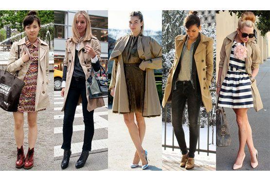 5 curtos Trench coat para o inverno