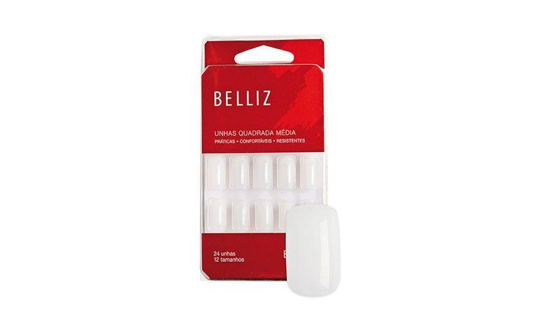 kwadratowych sztuczne paznokcie Belliz przez R $ 7,85 w Netfarma