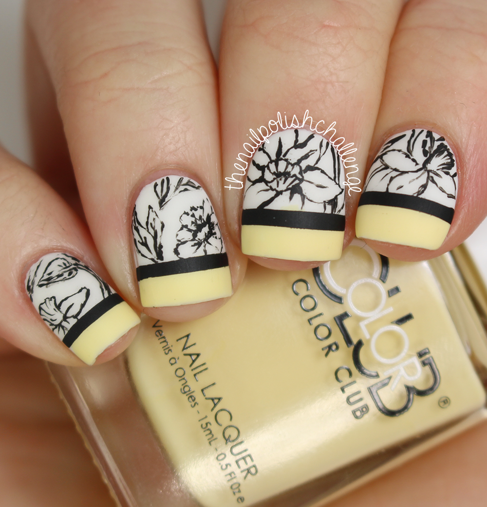 "Foto: Reprodução / <a href=""http://www.thenailpolishchallenge.com/2014/12/gucci-floral-nail-art-with-live-love.html"" target=""_blank""> The Nail Polish Challenge </a>"