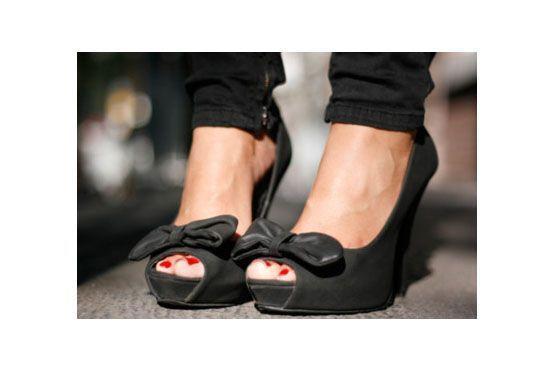 Sapatos que valorizam o esmalte