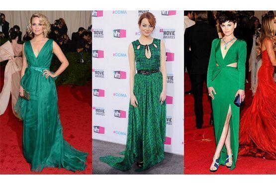 Celebridades optam pelo verde-esmeralda