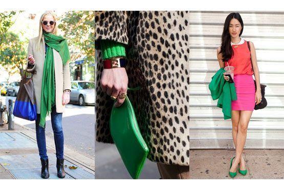 Acessórios verde-esmeralda