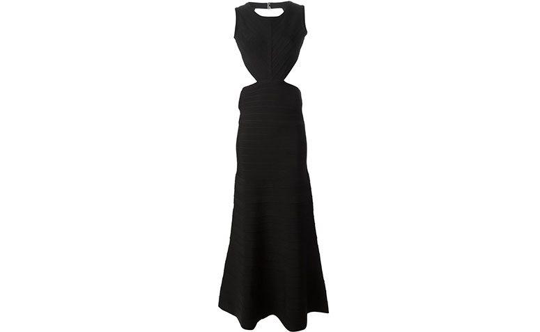 Hervé Léger Bandage Dress długo przez R $ 10.580 w Farfetch