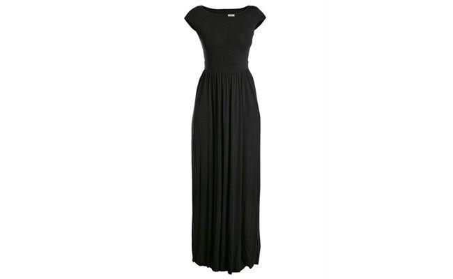 فستان أسود طويل من قبل R $ 89.99 في Posthaus