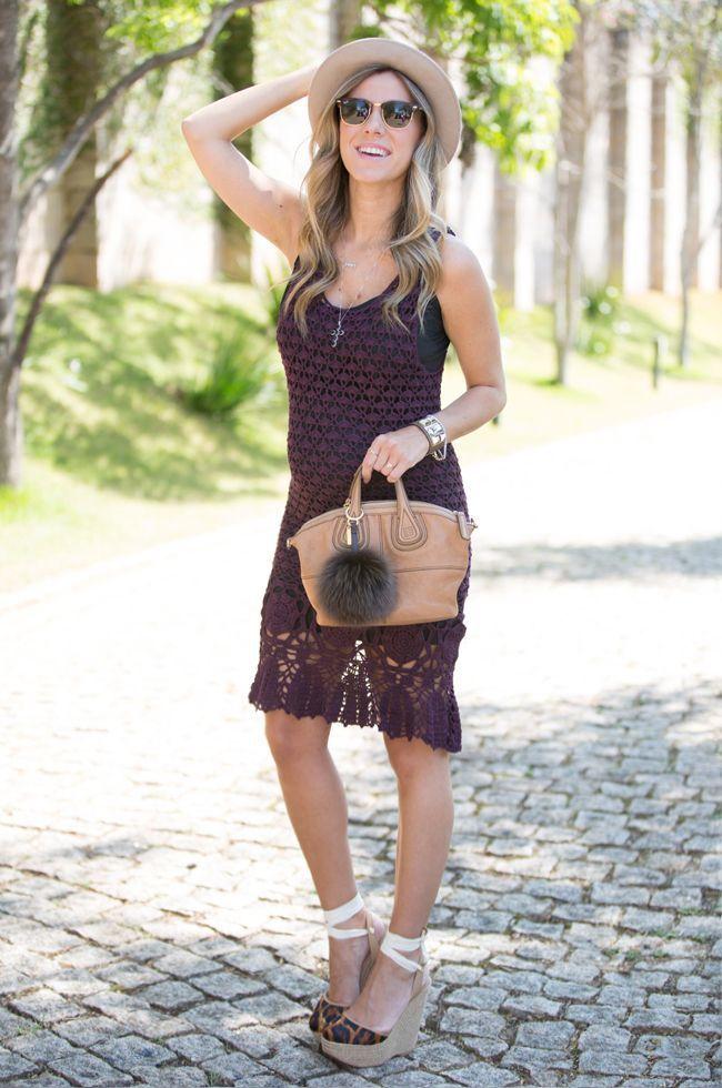 """Foto: Reprodução / <a href=""""http://www.glam4you.com/look-de-gravida-vestido-de-roche/"""" target=""""_blank"""">Glam4you</a>"""