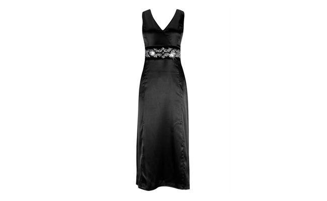 "Vestido preto longo por R$99,90 na <a href=""http://bit.ly/IuzbyR"" target=""_blank"">Posthaus</a>"