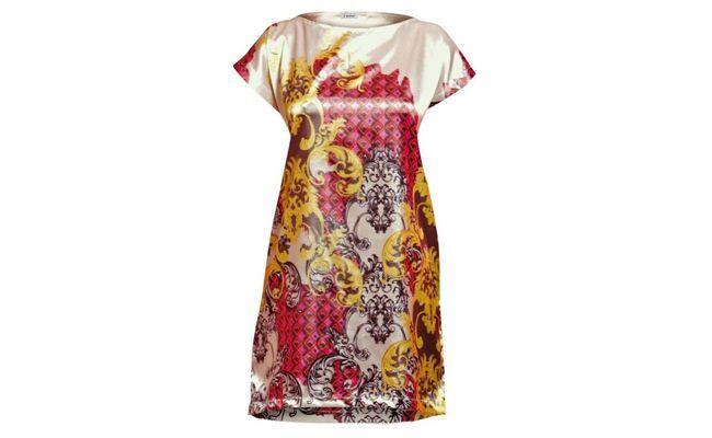 "Vestido de cetim estampado por R$109,99 na <a href=""http://bit.ly/1iix5TA"" target=""_blank"">Posthaus</a>"