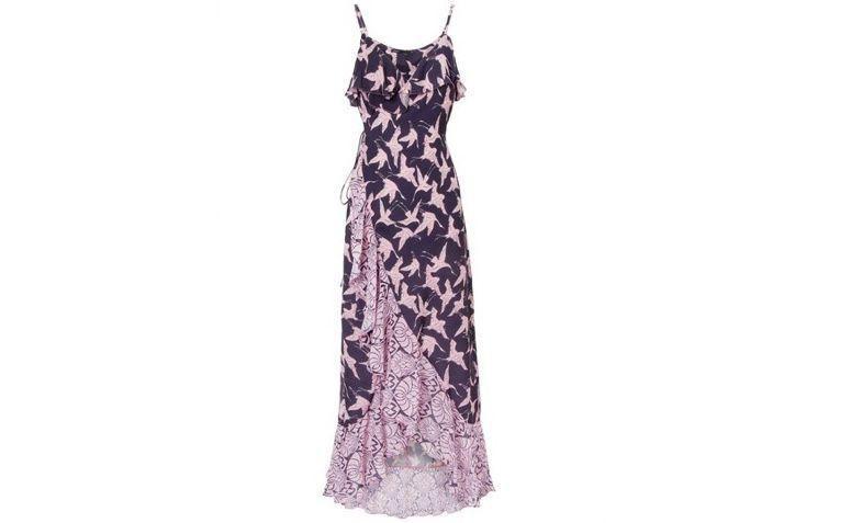 "Vestido envelope estampado por R$352,00 na <a href=""https://www.oqvestir.com.br/vestido-cropped-envelope-passaro-chines-rosa.html "" target=""blank_"">Oqvestir</a>"