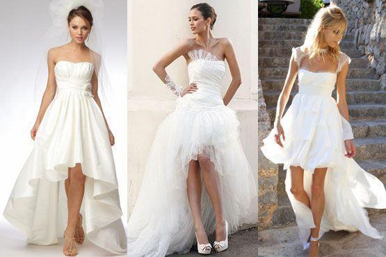 Vestido mullet para noivas