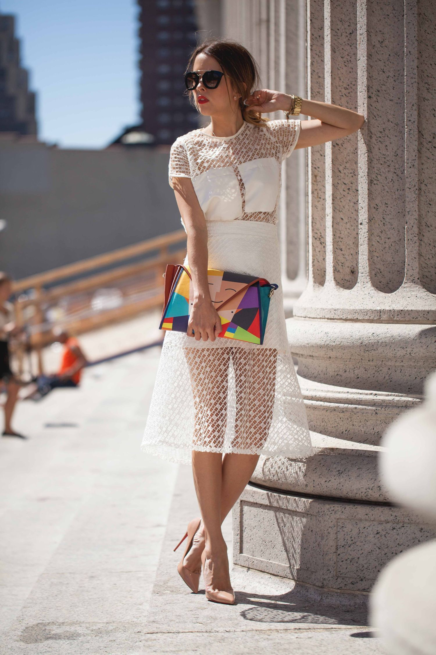 """Foto: Reprodução / <a href=""""http://ourfavoritestyle.com/outfits/nyfw-day-5-badgley-mischka-show-what-i-wore/"""" target=""""_blank"""">Our Favorite Style</a>"""