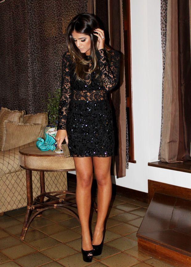 """Foto: Reprodução / <a href=""""http://www.blogdathassia.com.br/br/2012/08/07/meu-look-black-dress/#post"""" target=""""blank_"""">Blog da Thassia</a>"""