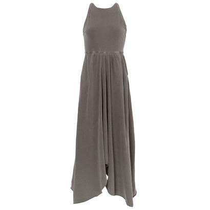 "Vestido longo por R$198,00 na <a href=""https://www.oqvestir.com.br/vestido-longo-sight-fyi-cinza.html "" target=""blank_"">OQVestir</a>"