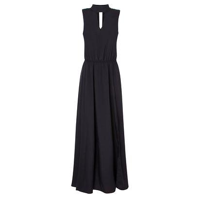 "Vestido fenda por R$309,00 na <a href=""https://www.oqvestir.com.br/vestido-longo-fenda-market-33-preto.html "" target=""blank_"">OQVestir</a>"