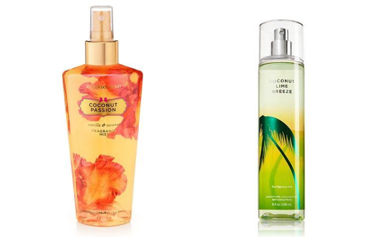 A Bath and Body Works, empresa do mesmo grupo da Victoria's Secret, também possui o body splash na sua linha de produtos, que são colônias, com os mesmos aromas de fruta