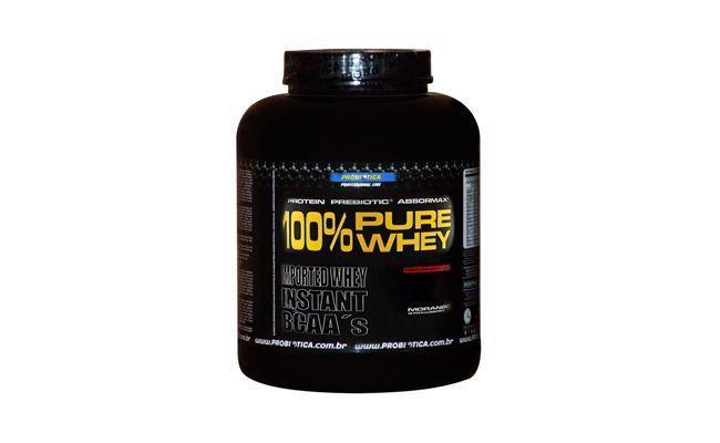 """100% Pure Whey Probiótica por R$249,99 na <a href=""""http://www.madrugaosuplementos.com.br/100-pure-whey-2268g-probiotica"""" target=""""blank_"""">Madrugão Suplementos</a>"""