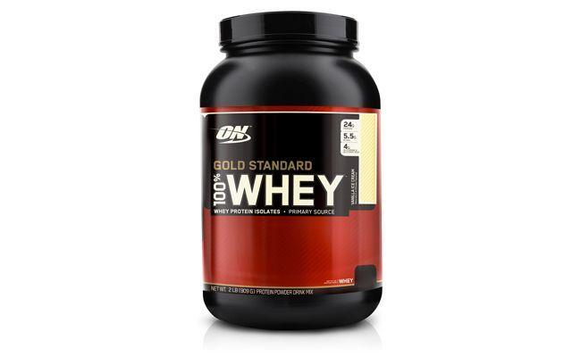 "100% Whey Gold Standard por R$179,90 na <a href=""http://www.netshoes.com.br/produto/100-whey-gold-standard-2-lbs--optimum-nutrition-165-0045-963"" target=""blank_"">Netshoes</a>"