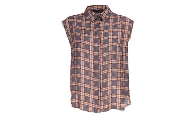 "Camisa Xadrez Talie - NK R$791 na <a href=""http://www.e-closet.com.br/item/camisa-seda-mini-xadrez-anita-castanho-talie-nk-9931.html"" target=""blank_"">E-Closet</a>"