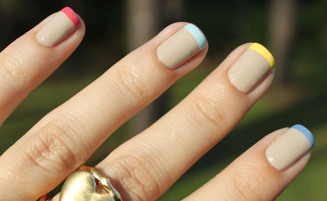 francesinha colorida Unhas decoradas