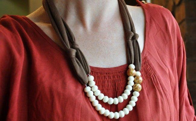 Conhecido Como fazer colares de tecido ou trapilho - Dicas de Mulher VP31