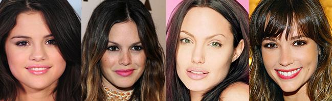 formato do rosto maquiagem Cortes de cabelo feminino 2013 (36 fotos)