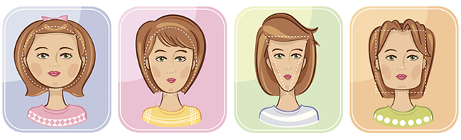 formato do rosto Cortes de cabelo feminino (36 fotos)