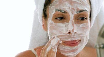 Máscara hidratante para o rosto