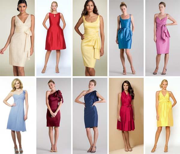 vestidos madrinhas curtos Vestidos para madrinhas