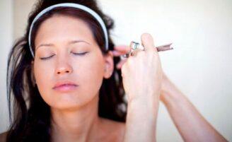 Maquiagem com airbursh