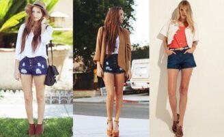 Como usar shorts de cintura alta