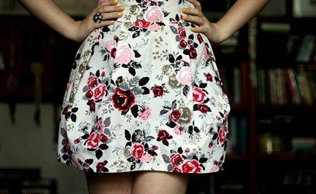 como usar saia tulipa3 Como usar saia tulipa