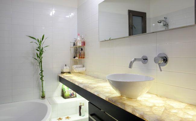 Aprenda como iluminar seu banheiro  Dicas de Mulher -> Banheiro Decorado Com Luminaria