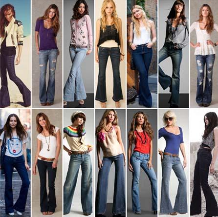 fotos modelos jeans flaire Jeans flare