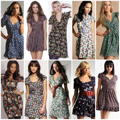modelos tea dress Tea dress para o verão