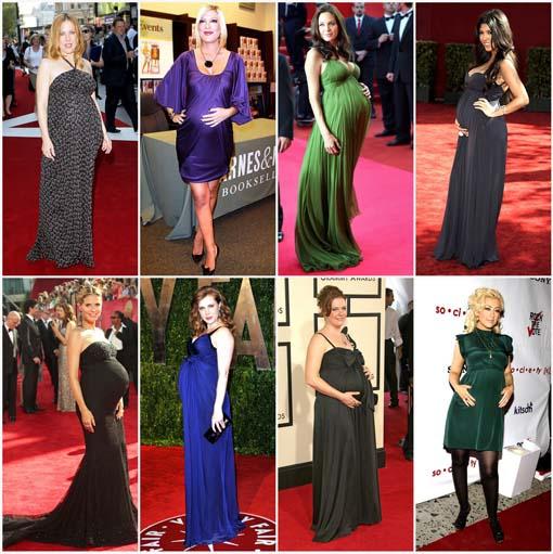 vestidos gestantes famosas Vestidos de festa para gestantes