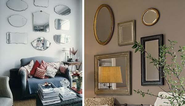 espelhos decorativos Decoração com espelhos