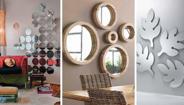 Decora o com espelhos dicas de mulher for Decorar paredes con cuadros y espejos