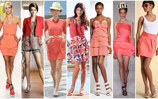 modelos moda coral Coral – A cor para o verão 2011