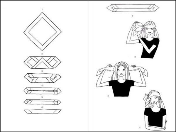 no carre passoapasso Aprenda a fazer carré, o nó da moda