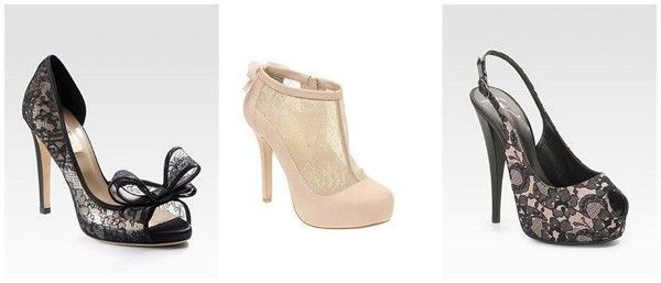 sapatos com renda Renda, um clássico da moda