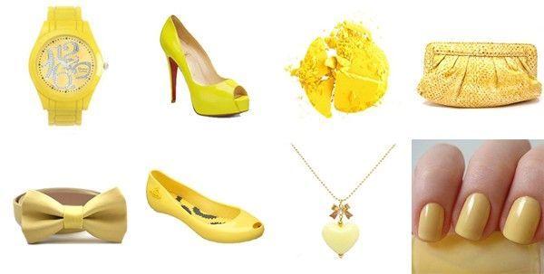 amarelo acessorios Amarelo: tendência 2010/2011
