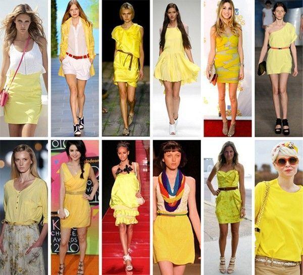 amarelo modelos Amarelo: tendência 2010/2011