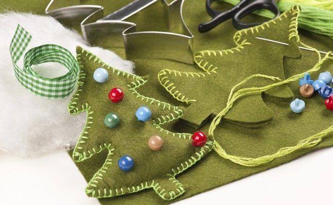 Como fazer enfeites para o natal dicas de mulher - Arbol de navidad artesanal ...