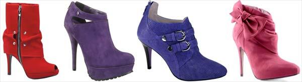 couromoda coloridos Tendências em sapatos para o inverno 2011